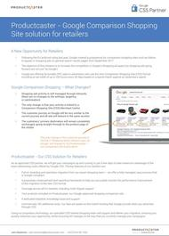 Contentcrowd Productcaster Google Comparison Shopping Site